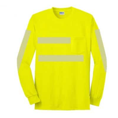 High-Visibility LS Pocket Green Front