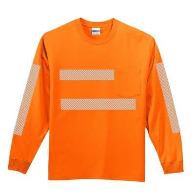 High-Visibility LS Pocket Orange Front