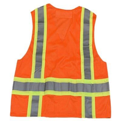 Safetyline Breakaway Mesh Vest Orange Back