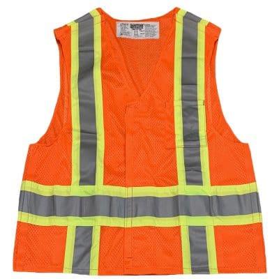Safetyline Breakaway Mesh Vest Orange Front
