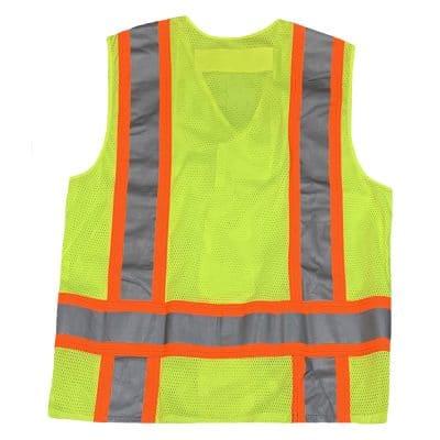 Safetyline Breakaway Mesh Vest Yellow Back