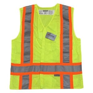 Safetyline Breakaway Mesh Vest Yellow Front