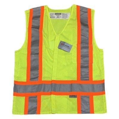 Safetyline Breakaway Mesh Vest Yellow Front