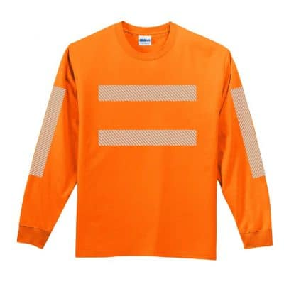 High-Visibility LS Orange Front