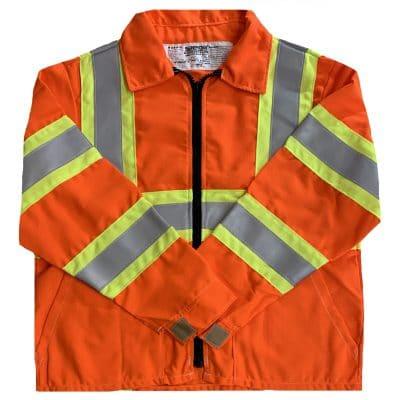 Safetyline Flame Retardant Jacket Orange Front