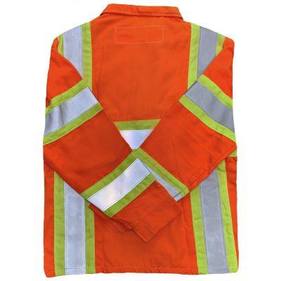 Safetyline Flame Retardant Jacket Orange Back