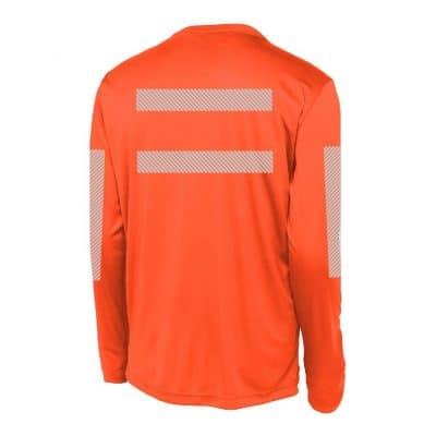 High-Visibility LS Performance Orange Back
