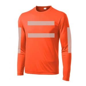 High-Visibility LS Performance Orange Front
