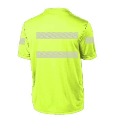 High-Visibility SS Performance Yellow Back