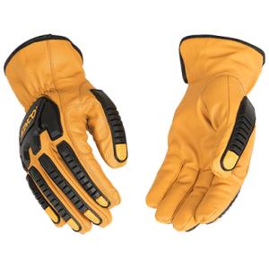 Cutflector Grain Buffalo Driver Gloves On