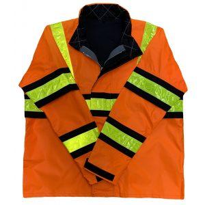 Safetyline Rain Jacket Orange Front