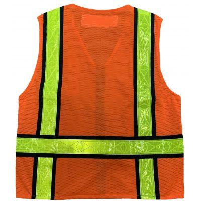 Safetyline Personal Mesh Vest Orange Back