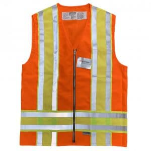 Safetyline Minnesota Style Safety Vest Orange Front