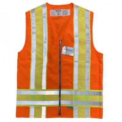 Safetyline Minnesota Style Safety Vest Orange Front