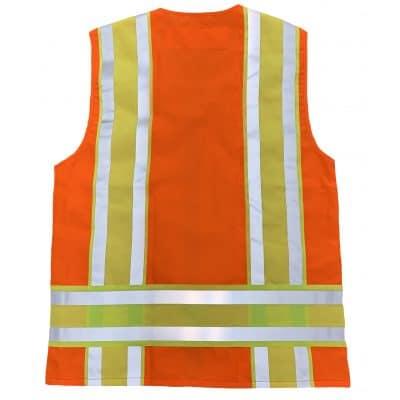 Safetyline Minnesota Style Safety Vest Orange Back