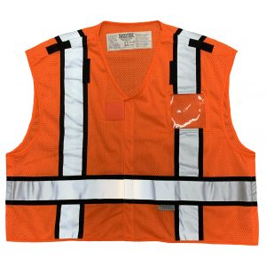 Safetyline PSV Breakaway Vest Orange Front