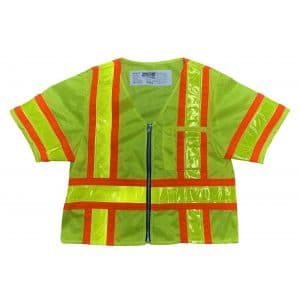 Safetyline Sleeved Mesh Safety Vest Yellow Front