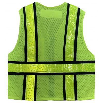Safetyline Personal Mesh Vest Yellow Back