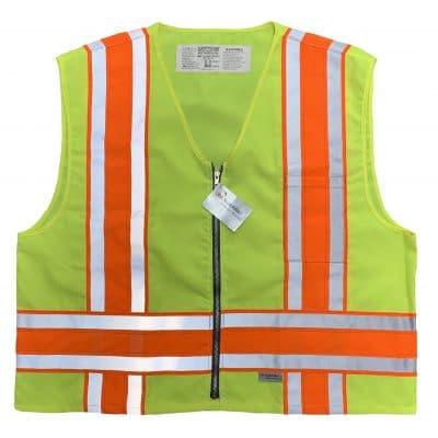 Safetyline Minnesota Style Safety Vest Yellow Front