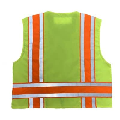 Safetyline Minnesota Style Safety Vest Yellow Back