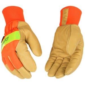 Kinco High-Visibility Knit Cuff Gloves