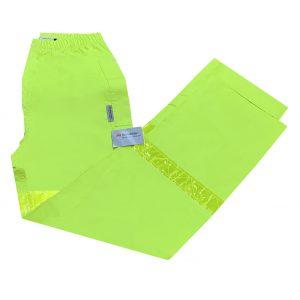 Safetyline Rain Pants Yellow Folded